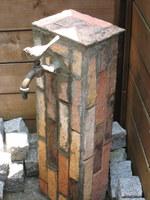 ウッドデッキの立水栓:クリックすると大きな写真になります