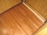 新しい床:浴室入り口側