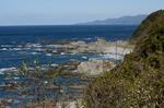 樫野崎から潮岬の眺望;クリックすると大きな写真になります