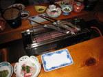 旅館「孫九郎」の夕食:クリックすると大きな写真になります