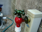 新しい水道栓;クリックすると大きな写真になります