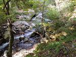 横行渓谷の渓流;クリックすると大きな写真になります