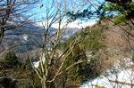 小屋からの冬景色:クリックすると大きな写真になります