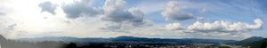 将軍塚西展望台からの眺望;クリックすると大きな写真になります