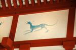大極殿の十二支犬;クリックすると大きな写真になります