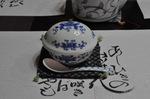 有田焼と和紙ナプキン;クリックすると大きな写真になります