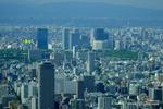 北方面:大阪城は小さく見える;クリックすると大きな写真になります。