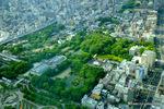 天王寺公園:西北眼下:ハルカス;クリックすると大きな写真になります。