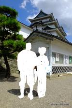 背景は和歌山城天守閣;クリックすると大きな写真になります。