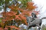 楠木正成銅像:観心寺;クリックすると大きな写真になります