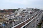 鴨谷橋から南区役所方面を望む;クリックすると大きな写真になります