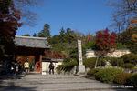 山門:観心寺;クリックすると大きな写真になります。