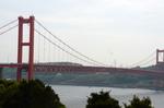 平戸公園から平戸大橋を見る;クリックすると大きな写真になります