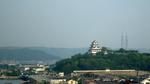 ホテル朝食会場から唐津城を見る;クリックすると大きな写真になります