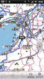 カーナビのルート地図
