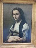コロー「真珠の女」;クリックすると大きな写真になります。