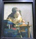 フェルメール「レースを編む女」;クリックすると大きな写真になります。