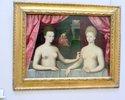 フォンテンブロー派「ガブリエル・デストレとその妹」;クリックすると大きな写真になります。