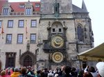旧市庁舎の天文時計;クリックすると大きな写真になります