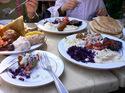 ユダヤ人街でのレストラン;クリックすると大きな写真になります。