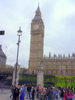 ロンドンのビック・ベン;クリックすると大きな写真になります。