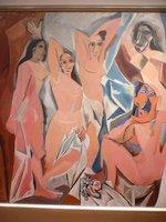 ピカソ「アヴィニヨンの娘たち」;クリックすると大きな写真になります