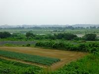 厚木PAから眺める相模川;クリックすると大きな写真になります。