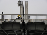 勝鬨橋;クリックすると大きな写真になります