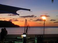 夕焼け;クリックすると大きな写真になります