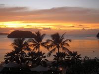 アガニャ湾の夕焼け -1;クリックすると大きな写真になります
