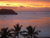 アガニャ湾の夕焼け -2;クリックすると大きな写真になります
